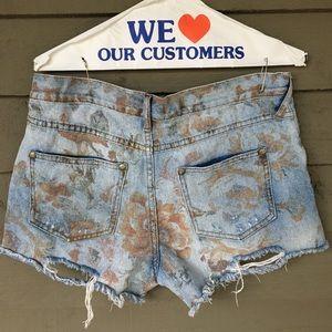 FREE PEOPLE ~ Vintage Ripped Denim Shorts